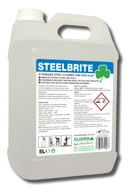 Clover SteelBrite 5L - Stainless Steel Cleaner and Descaler